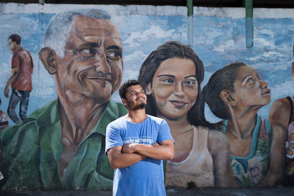 Wallace o grafiteiro que pinta o povo nordestino