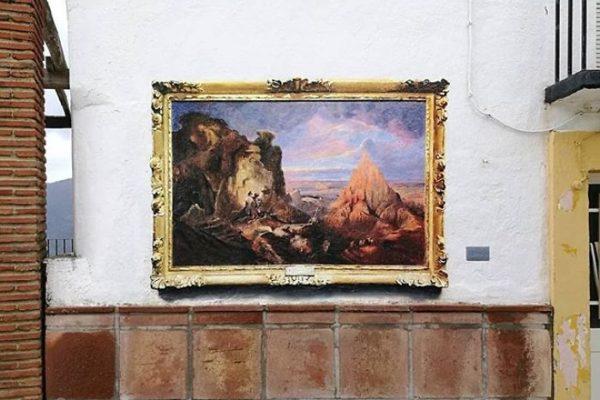 Artista replica pinturas famosas em lugares incomuns e abandonados 17