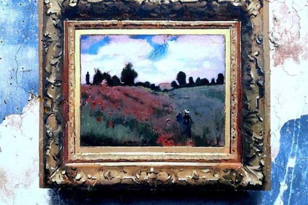 Artista replica pinturas famosas em lugares incomuns e abandonados 18