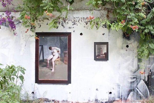 Artista replica pinturas famosas em lugares incomuns e abandonados 22