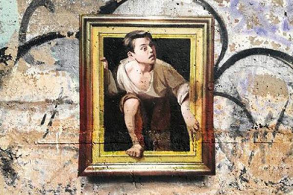 Artista replica pinturas famosas em lugares incomuns e abandonados arte no caos
