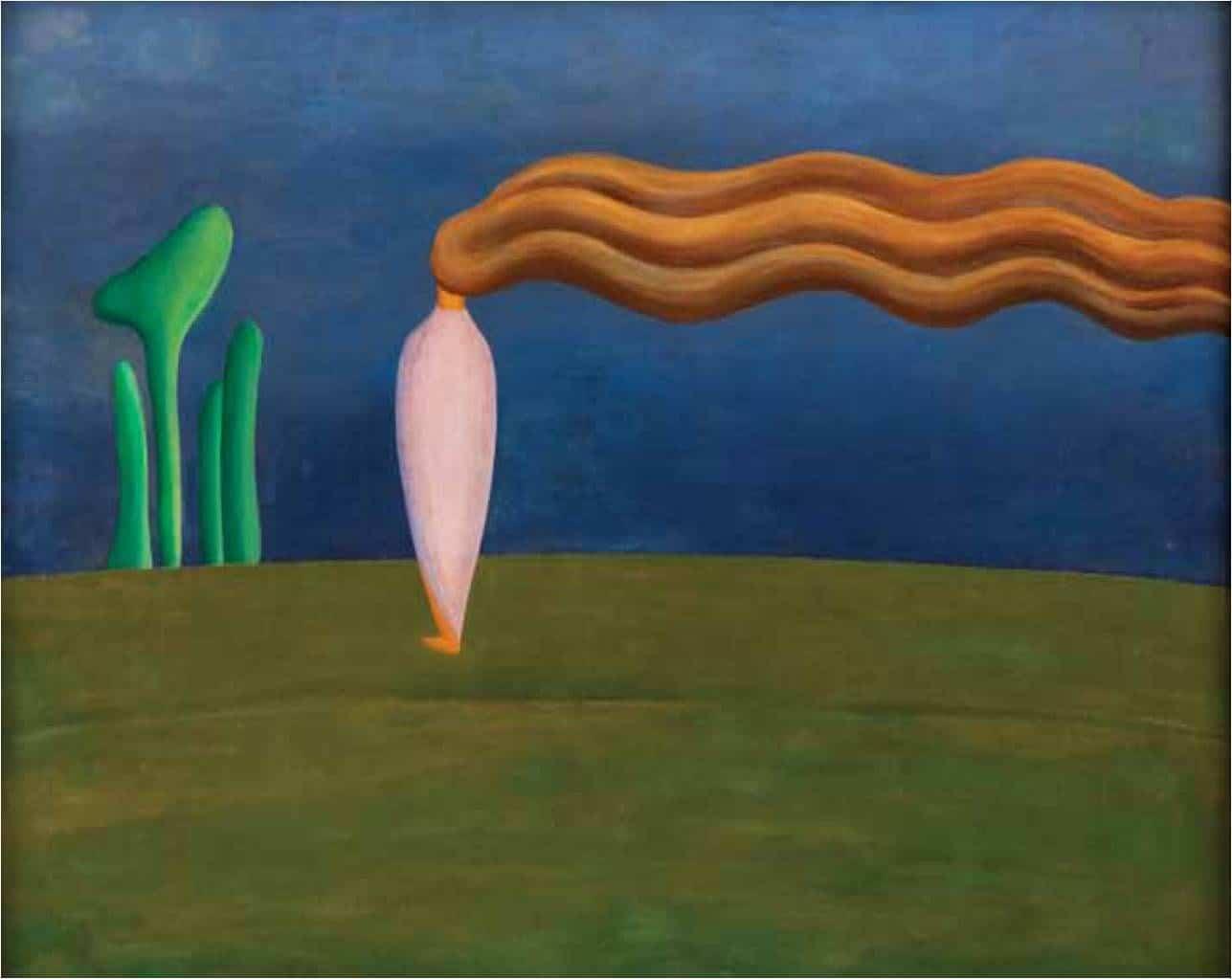 Figura só. Obra de Tarsila do Amaral que retrata um momento reflexivo da artista