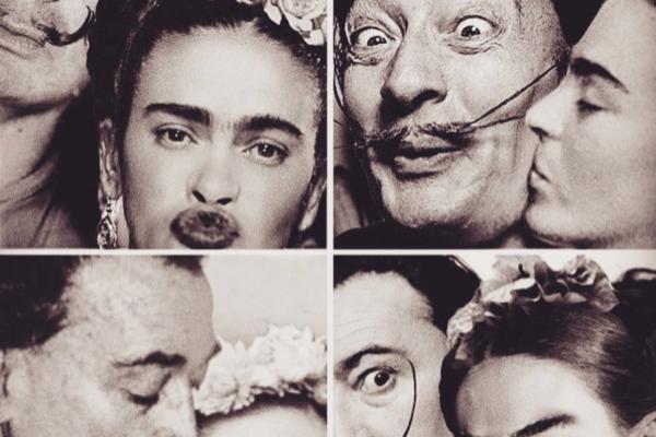 E se pinturas famosas fossem fotos reais arte no caos Frida e Dalii